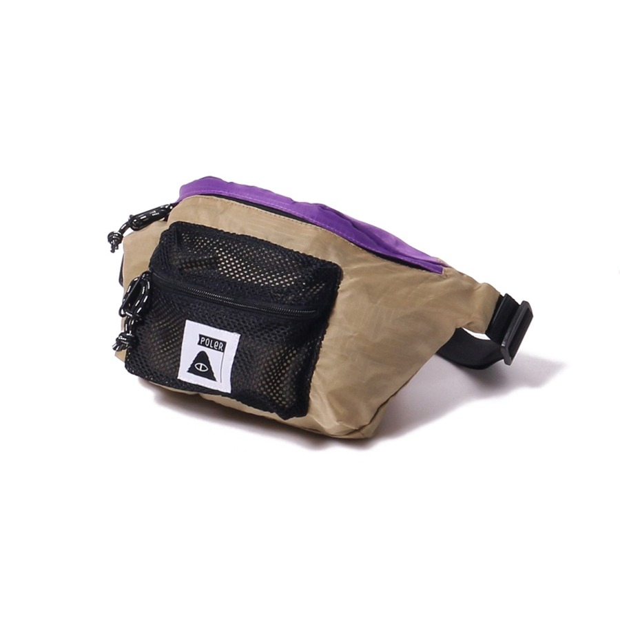 STUFFABLE FANNY PACK PURPLE/BEIGE