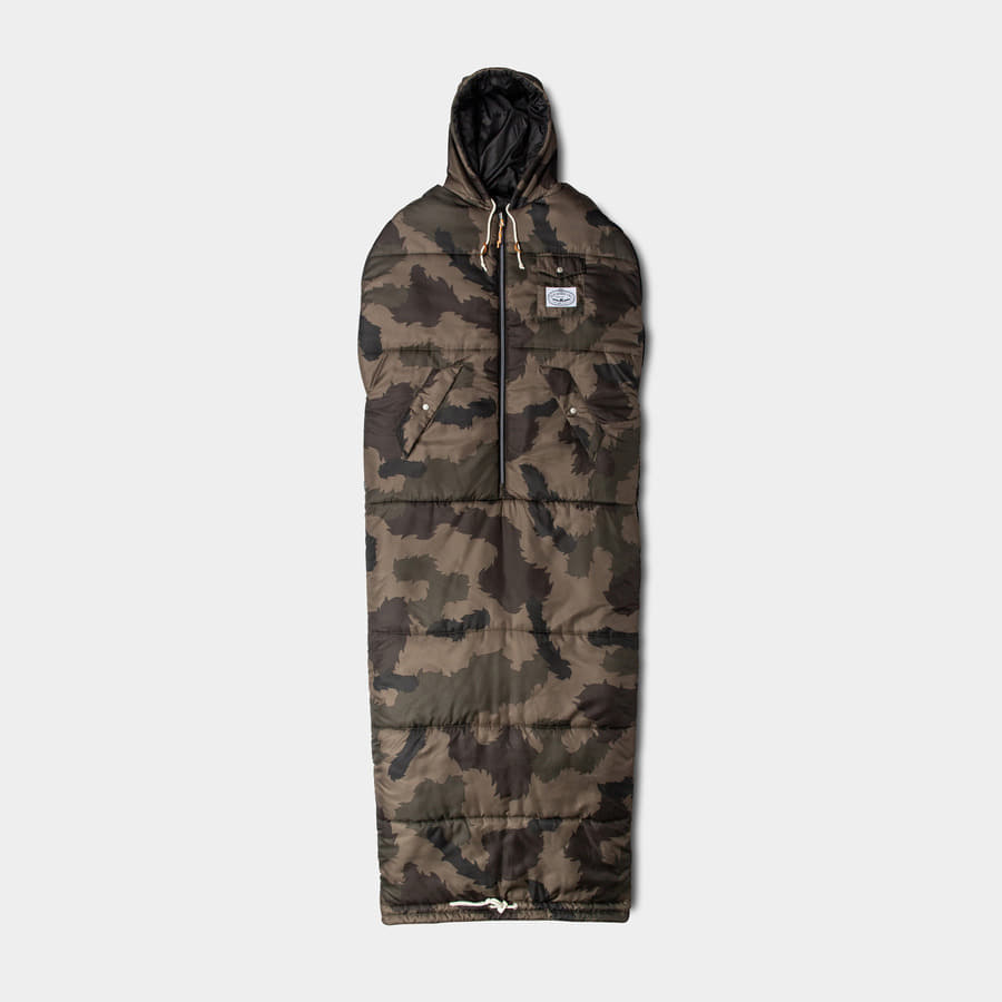 REVERSIBLE NAPSACK OLIVE FURRY CAMO