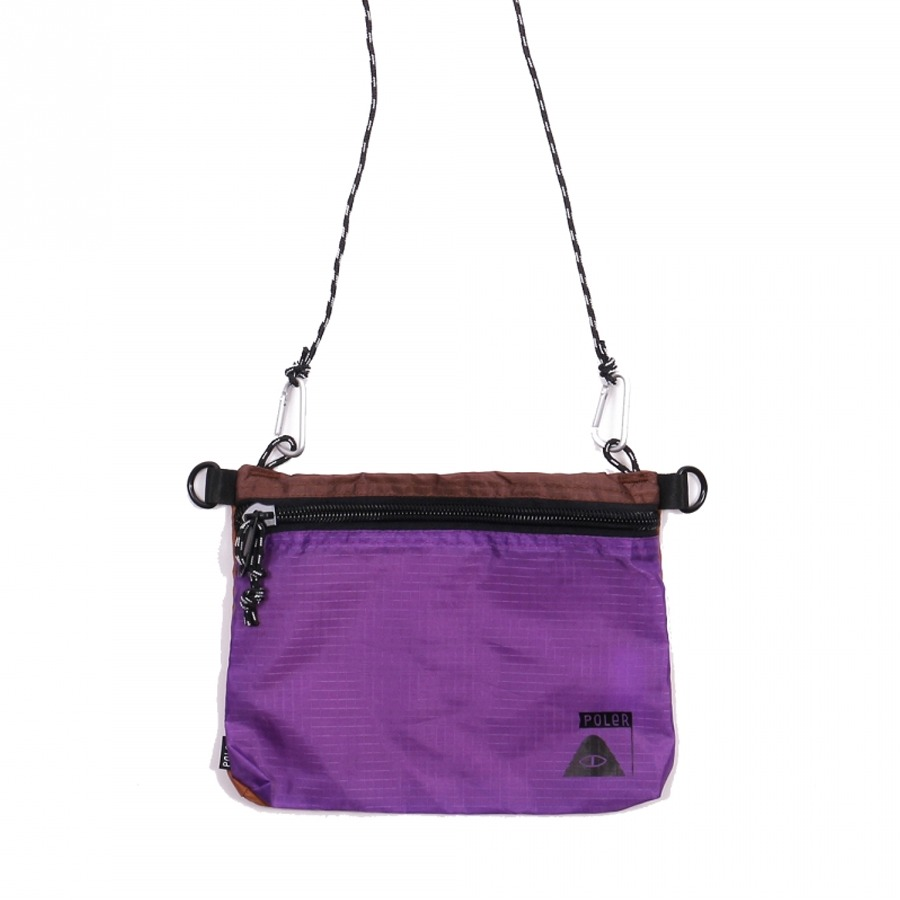 STUFFABLE POUCH LARGE - PURPLE/BROWN