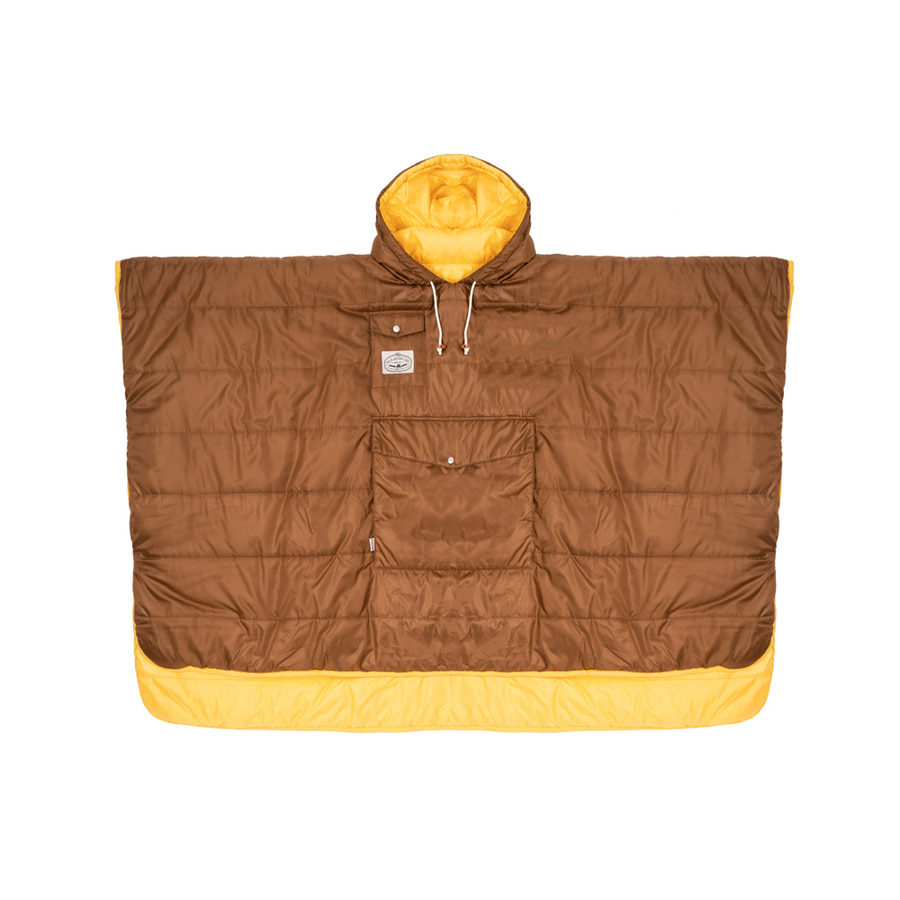 REVERSIBLE CAMP PONCHO / GOLD