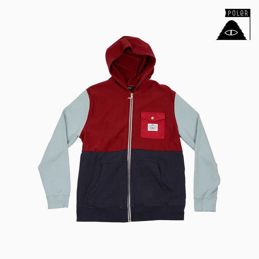 ZIP HOOD - FIFTY 50 MERLOT