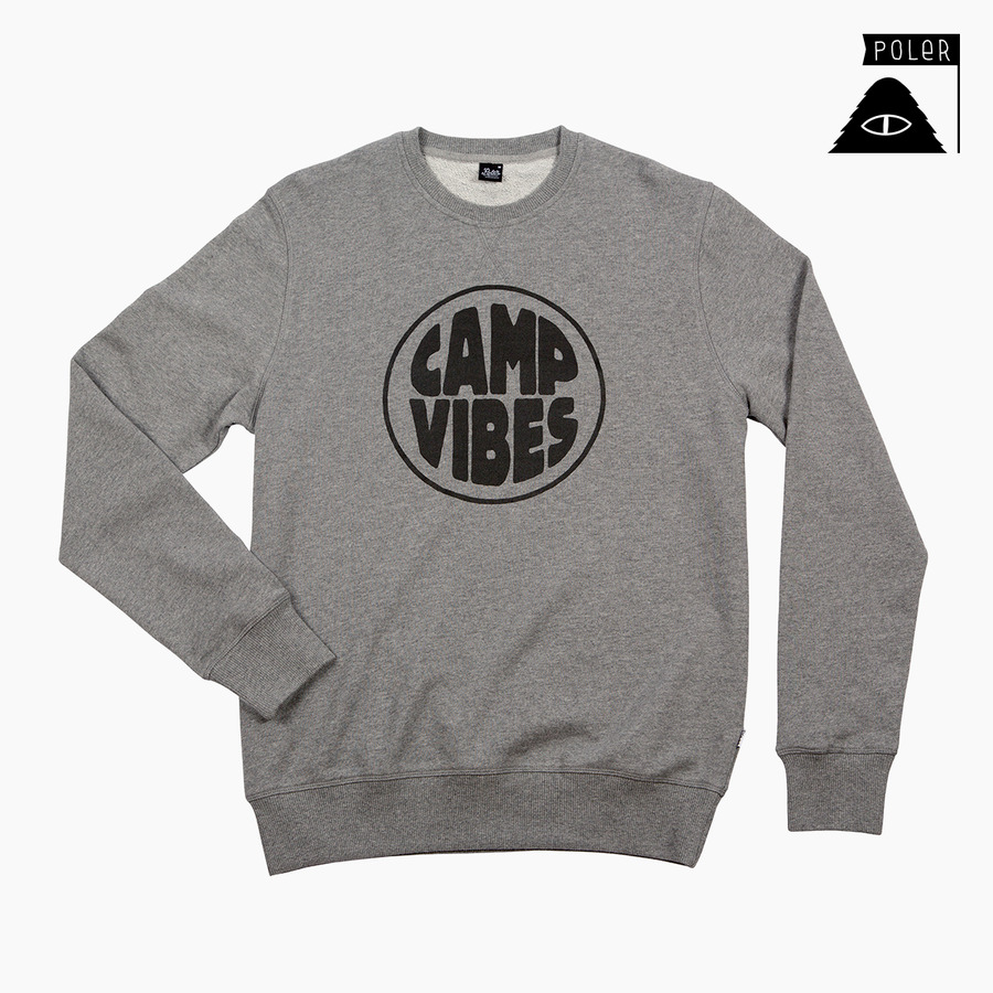 CREW NECK - POP TOP GREY HEATHER
