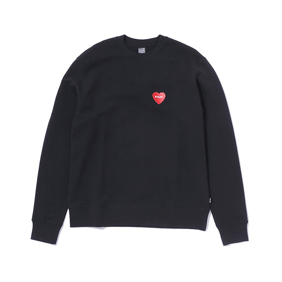 FURRY HEART CREW BLACK