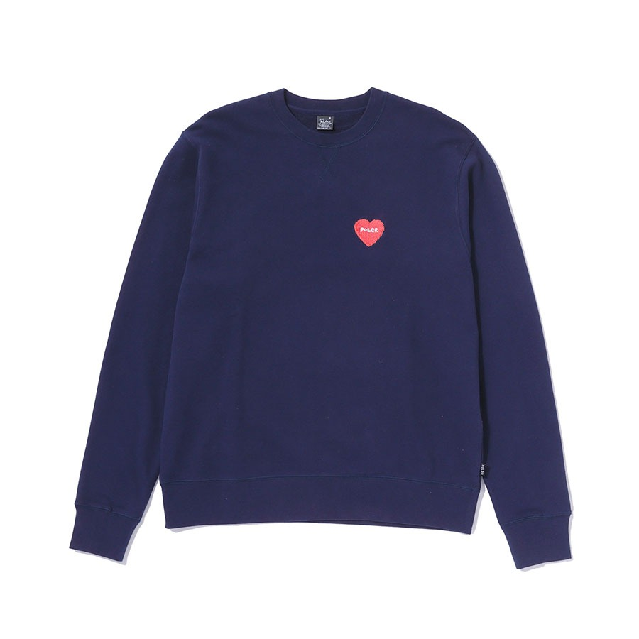 FURRY HEART CREW NAVY