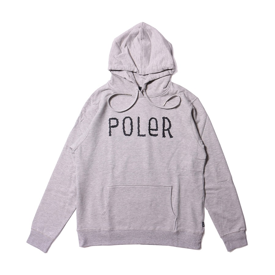 FURRY FONT HOODIE HEATHER GRAY