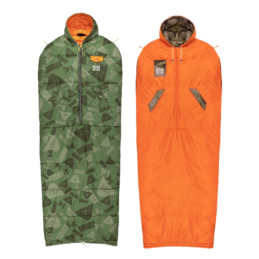 REVERSIBLE NAPSACK SUMMIT CAMO GREEN